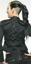 NEW Lip Service Black Institutionalized Stretch Twill O-Ring Jacket Gothic XS