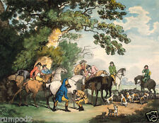 Painting/Poster/Thomas Rowlandson/'Going Out in the Morning'/Fox Hunt