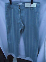 BNWT Womens Sz 16 Autograph 1626 Brand Pale Blue Denim Cream Stripe Jeans RRP$50