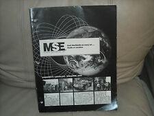 MSE Studio Equipment catalog 2001