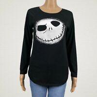 Disney Nightmare Before Christmas Jack Skellington T-shirt LARGE Black White
