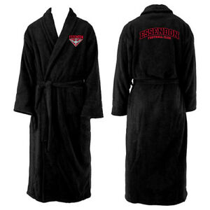 Essendon Bombers AFL Adult Polyester Dressing Gown Bath Robe Fathers Day Gift