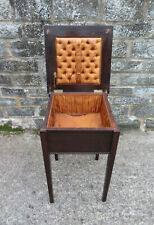 More details for vintage oak effect sewing box on legs ( small side table) - needs some attention