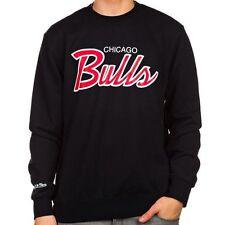 NBA chicago Bulls mitchell ness crewneck sweatshirt script LARGE felpa no hoodie