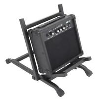 Foldable Electric Bass Guitar AMP Stand Rack Amplifier Stage Holder Mount Black