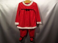 Girls Christmas Holiday santa outfit size 24 months carters