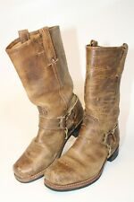 Frye Womens Size 9 M Distressed Leather Pull On Square Toe 12R Harness Boots
