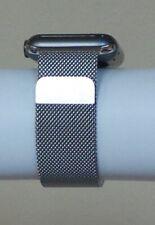 Apple Watch 42-38mm Stainless Steel Milanese Loop Band-Silver/Black Genuine OEM