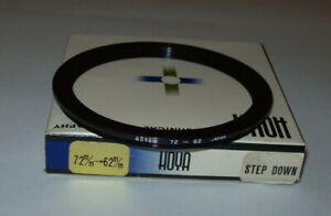 VINTAGE HOYA 72- 62MM STEP DOWN FILTER RING WITH BOX MADE IN JAPAN FREE SHIPPING