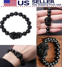 Wealth Bracelet Attract Wealth Us Stock Black Feng Shui Black Obsidian Pi Xiu