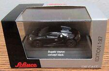 SCHUCO Diecast Bugatti Veyron Concept Black 1/87 HO