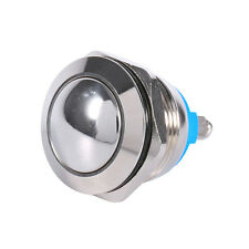 Round 12V Waterproof Metal On Off Push Button Horn Momentary Kill Switch 19mm DH