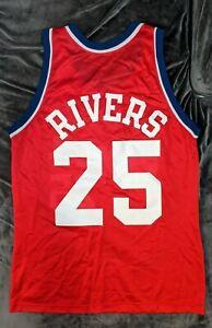 DOC RIVERS Los Angeles Clippers Vintage Champion Jersey 44 NBA Richardson Hawks