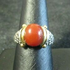 silver ring size 8.5 with a carnelian