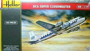 Heller 1:72 DC6 Super Cloudmaster Aircraft Model Kit