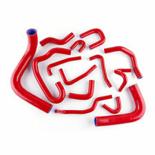 Fit 1990-1995 Toyota Pickup 3.0L V6  Coolant Pipe Silicone Radiator  Hose Red