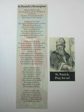 St Patricks Breastplate Bookmark and Saint Patrick Magnet