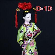 D-10 China Qing-Dynastie Geisha chinesisch Puppe Figur Seide 31cm groß