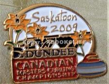 2009 SASKATOON CANADIAN MASTERS CURLING CHAMPIONSHIP Lapel Pin Mint