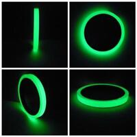 Luminous Tape Self-adhesive Glow In The Dark Safety Stage Bedroom Home Decor Q