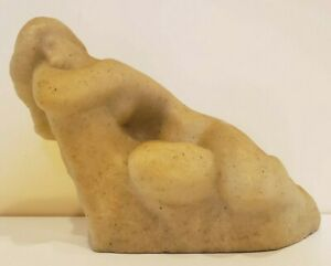 """""""The Dreamer"""" Vincent Glinsky Reclining Nude Sculpture Signed Mid Century"""