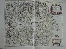 MAPPA STATO DEL PIEMONTE 1640 TORINO MONFERRATO ASTI VERCELLI ALBA