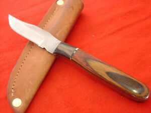 "Anza USA 7-3/8"" Fixed File Blade Full Tang 98 Sheath Knife"
