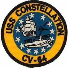 USS, CONSTELLATION - Embroidered Patches, High Quality Sew On Iron On Patch - 3""