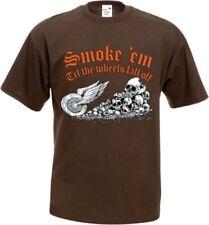 Camisetas de hombre marrón negros 100% algodón