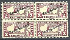 Austria 1919 Sc# QE5 Special handling stamps block 4 MNH