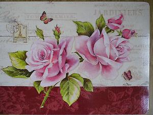 Platzteller aus Kork - Oberfläche französisches Motiv - Provence - Rosen!