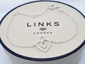 Links of London Infinite Love heart bracelet sterling silver new