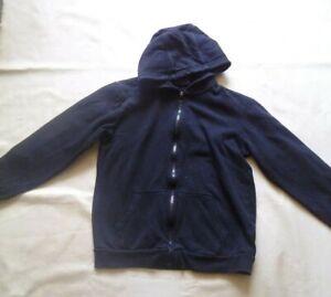TG Black Hooded Sweat Jacket Age 10-11 Years