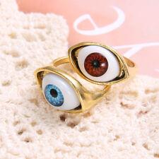 Vintage Retro Evil Eye Eyeball Finger Ring For Women Funny Punk Gothic Jewelry