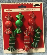 6 Piece Candy Shaped Mini Christmas Ornament by Holiday Time