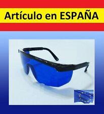 GAFAS protectoras de LASER seguridad ojos AZULES laser azul, rojo y verdes 750nm