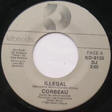 **CORBEAU (Marjo) Illegal / Elle PROMO 1982 Canada QUEBEC HARD ROCK 45