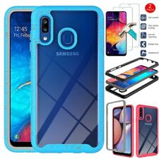 For Samsung Galaxy A20S Phone Case Shockproof TPU Bumper Cover+Tempered Glass