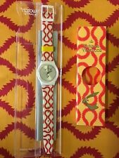 NEW Vintage Vivienne Westwood SWATCH RED Squiggle