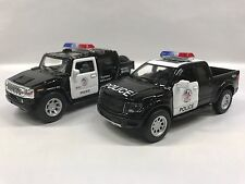 Hummer H2 & Ford F-150 Police Car 1:40 KT5097-5365.DP Set of 2