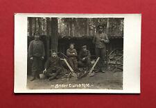 Militär Foto AK Russland 1. WK 1916 Soldaten Unterstand an der Düna  ( 62106