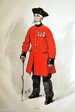 ESTAMPE 19è INVALIDE LONDRES Paul RENOUARD typogravure 1886 Gillot pinte beer