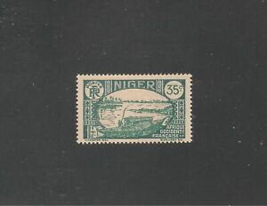 Niger #42 (A3) XF MINT VLH - 1938 35c Boat on Niger River