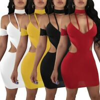 Women's Sexy Lace Mini Dress Bodycon Nightclub Ball Gown Lady Backless Dresses