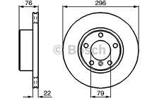 BOSCH Juego de 2 discos freno Antes 296mm ventilado BMW Serie 5 0 986 478 848
