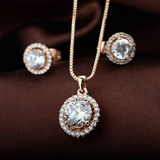Rose Gold Plated Clear Coloured Costume Jewellery Sets