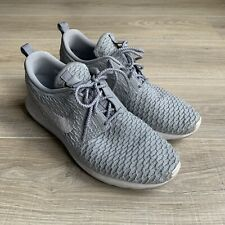 Nike Roshe NM Flyknit SE Wolf Grey White Sneakers Mens Sz 10.5 677243-012 Shoes