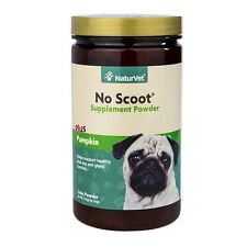 NaturVet No Scoot Plus Pumpkin Puppy Dog Powder Supplement, 155g bottle