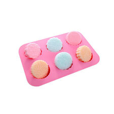 6 Flower Pattern Soap Cake Mooncake Mold Flexible Silicone Mould Candy Chocolate