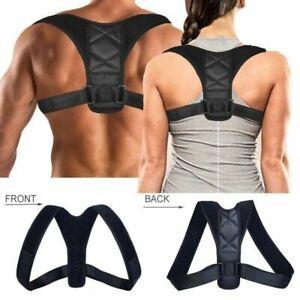 Posture Corrector Back Brace Adjustable Lumbar Spinal Body Shoulder Belt Support